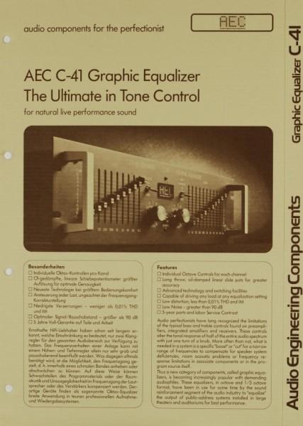 AEC - Audio Engineering Components C-41 Prospekt / Katalog