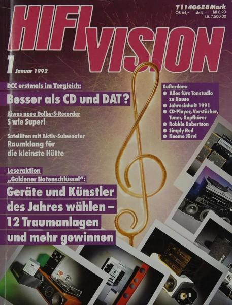 Hifi Vision 1/1992 Zeitschrift