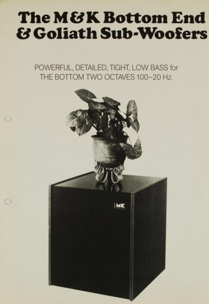 M&K Bottom End / Goliath Sub-Woofers Prospekt / Katalog