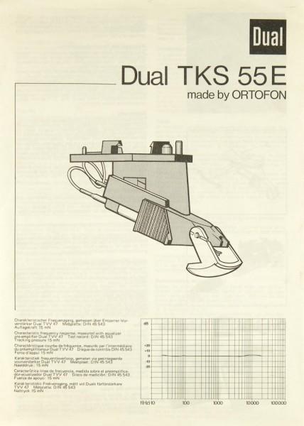 Dual TKS-55 E Bedienungsanleitung