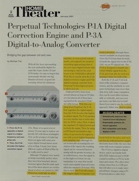 Perpetual Technologies P-1 A / P-3 A Testnachdruck