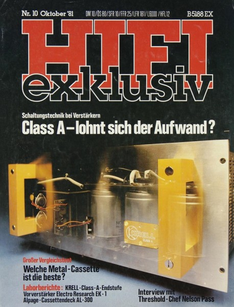 Hifi Exklusiv 10/1981 Zeitschrift
