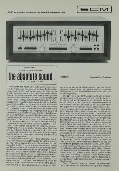 SCM 2217 Prospekt / Katalog