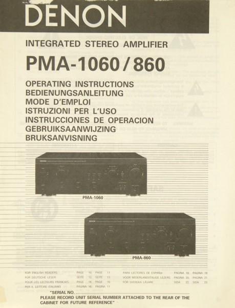Denon PMA-1060 / PMA-860 Bedienungsanleitung