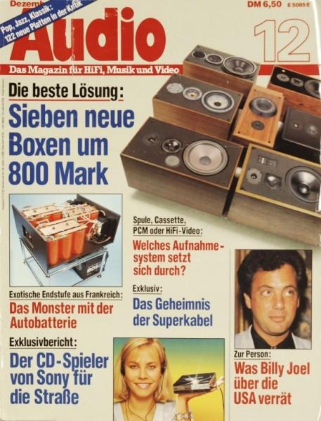 Audio 12/1984 Zeitschrift