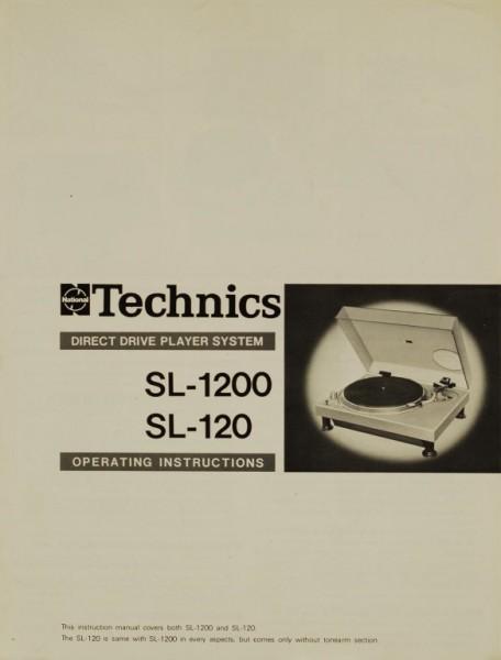 Technics SL-1200 / SL-120 Bedienungsanleitung