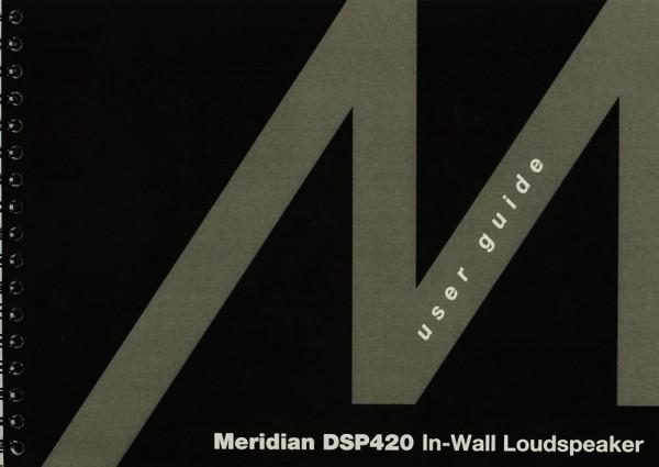 Meridian DSP 420 Bedienungsanleitung