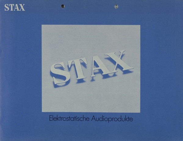 Stax Elektrostatische Audioprodukte Prospekt / Katalog