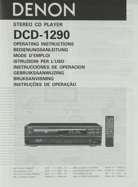 denon dcd 1290 manual cd players denon manuals hifi rh springair de Tandberg Amplifiers tandberg rx1290 manual