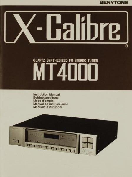 Benytone X-Calibre MT 4000 Bedienungsanleitung