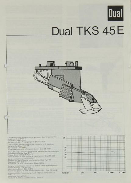 Dual TKS 45 E Bedienungsanleitung