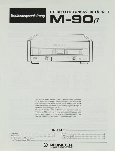 Pioneer M-90 a Bedienungsanleitung