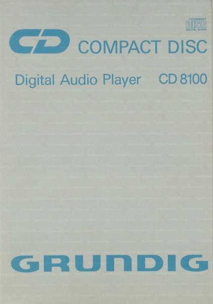 Grundig CD 8100 Bedienungsanleitung