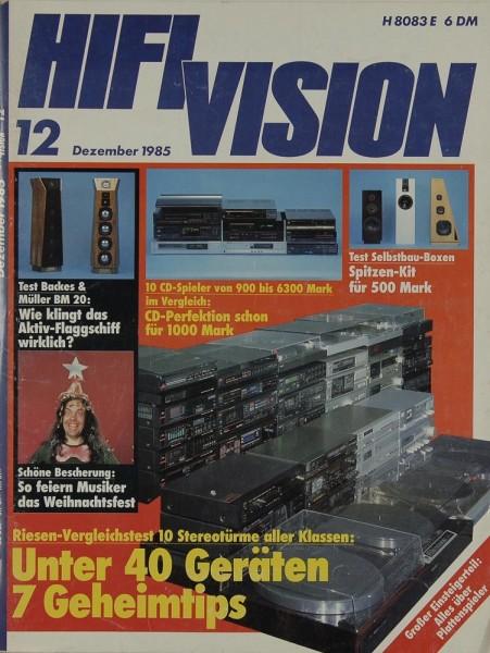 Hifi Vision 12/1985 Zeitschrift