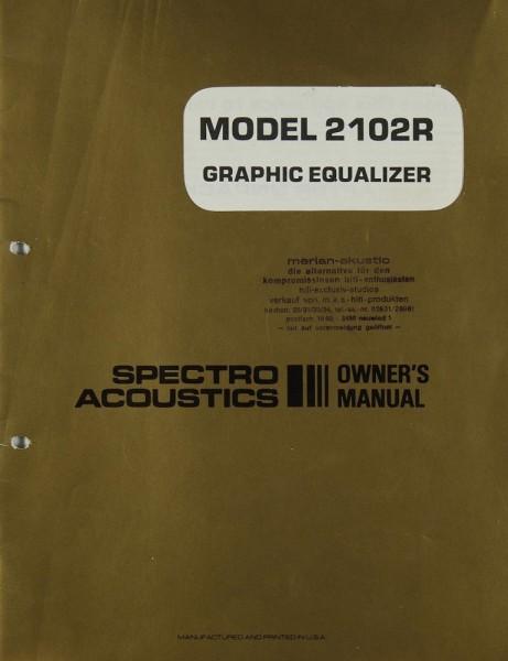 Spectro Acoustics 2102 R Bedienungsanleitung