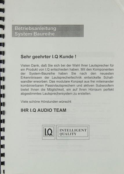 I.Q System Baureihe Bedienungsanleitung