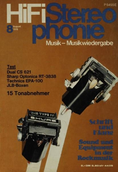 Hifi Stereophonie 8/1978 Zeitschrift