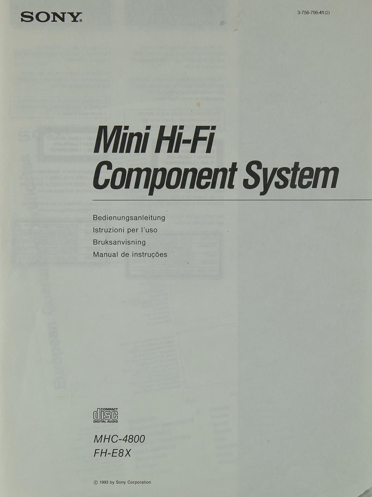 sony mhc  fh