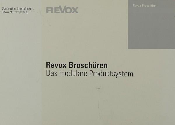 Revox Broschüren - Das modulare Produktsystem Prospekt / Katalog