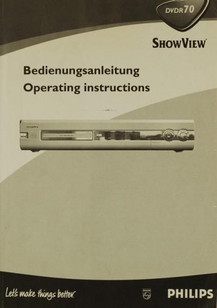 Philips DVDR 70 Bedienungsanleitung