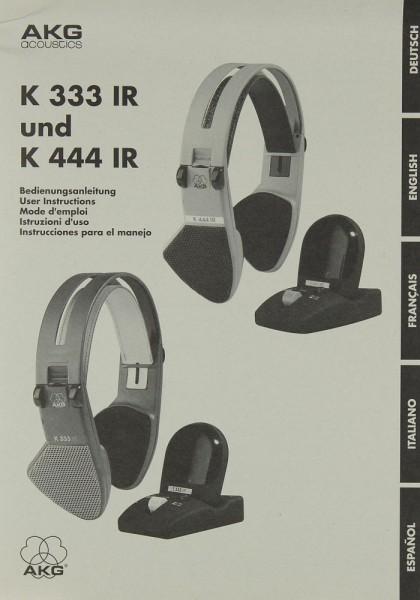 AKG K 333 IR / K 444 IR Bedienungsanleitung