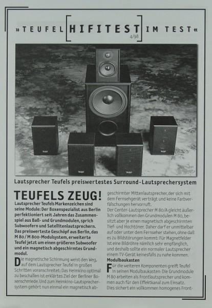 Teufel Surround-Lautsprechersystem Prospekt / Katalog