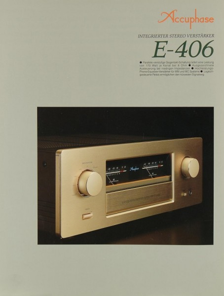 Accuphase E-406 Prospekt / Katalog