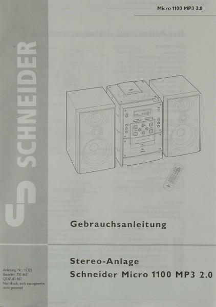 Schneider Micro 1100 MP3 2.0 Bedienungsanleitung