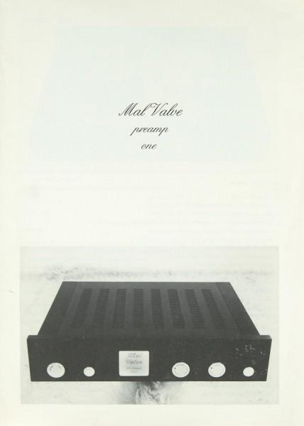 Mal Valve Preamp One Prospekt / Katalog