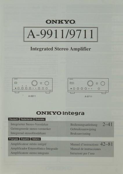 Onkyo A-9911 / 9711 Bedienungsanleitung