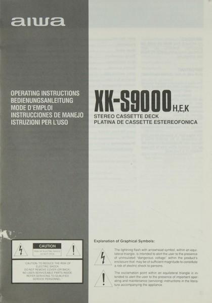 Aiwa XK-S 9000 H/E/K Bedienungsanleitung