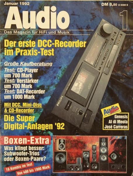Audio 1/1992 Zeitschrift