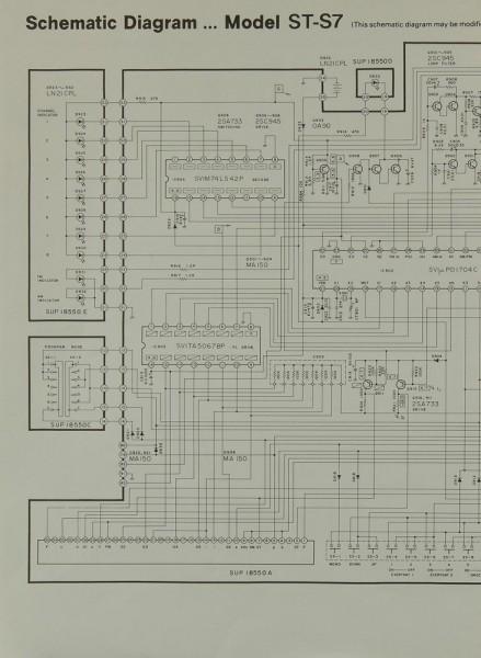 Technics ST-S 7 Schaltplan / Serviceunterlagen
