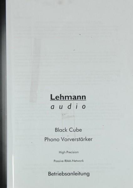 Lehmann Black Cube Bedienungsanleitung
