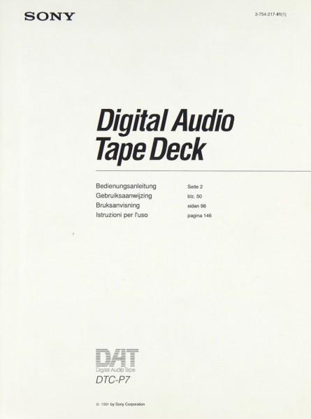 Sony DTC-P 7 Bedienungsanleitung