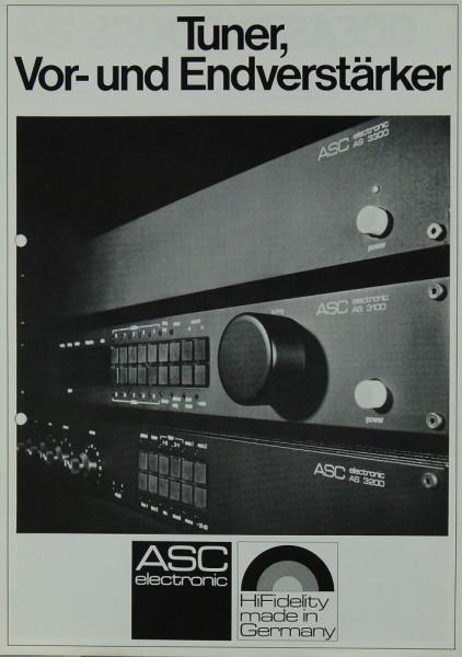 ASC AS 3100 / AS 3200 / AS 3300 Prospekt / Katalog