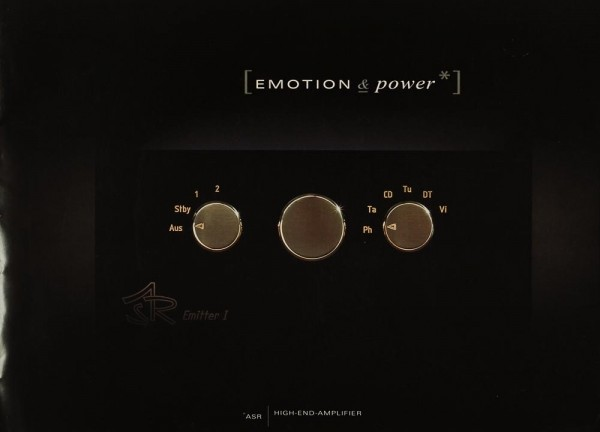 ASR Emotion & Power Prospekt / Katalog