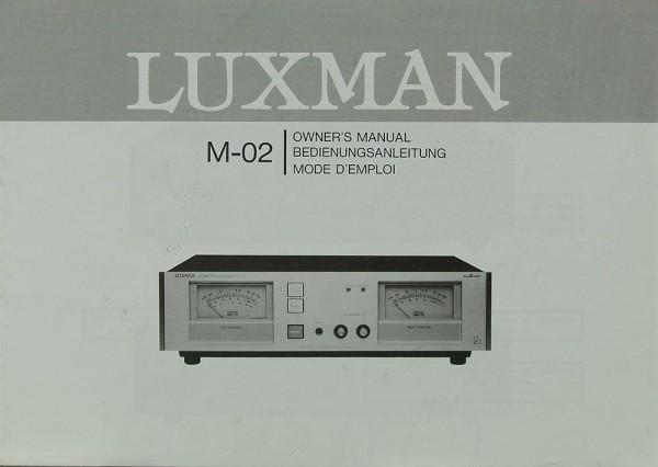 Luxman M-02 Bedienungsanleitung