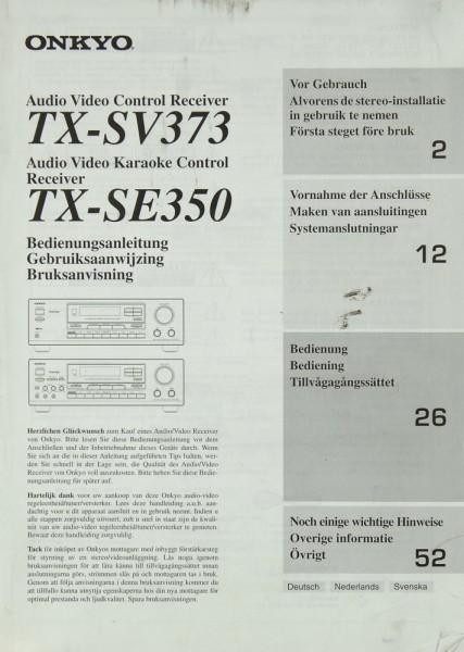 Onkyo TX-SV 3763 / TX-SE 350 Bedienungsanleitung