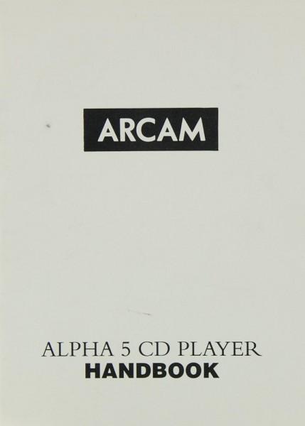 Arcam Alpha 5 Bedienungsanleitung