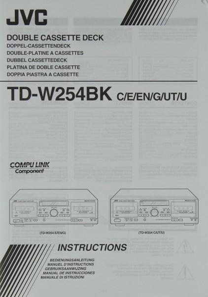 JVC TD-W 254 BK (C/E/EN/G/UT/U) Bedienungsanleitung