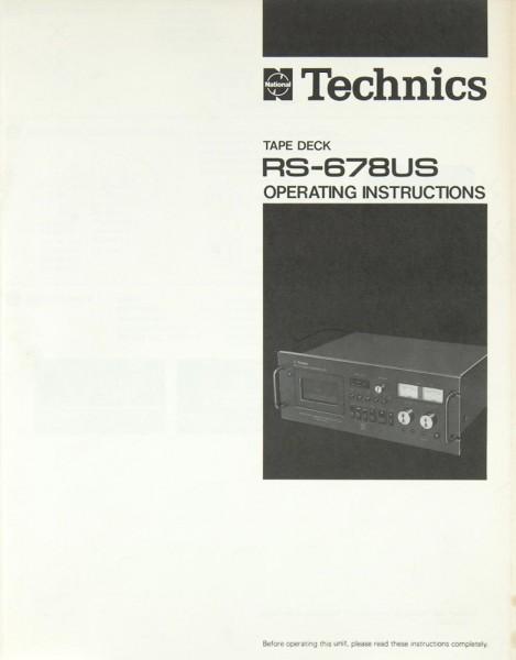 Technics RS-678 US Bedienungsanleitung
