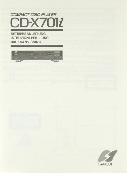 Sansui CD-X 701 i Bedienungsanleitung