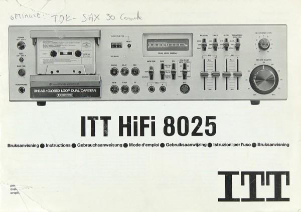 ITT 8025 Bedienungsanleitung