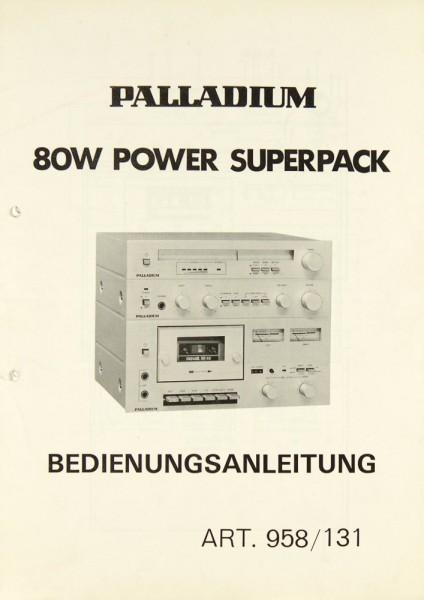 Palladium 958 / 131 (80 Watt Power Superpack) Bedienungsanleitung