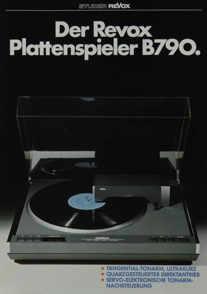 Revox B 790 Prospekt / Katalog