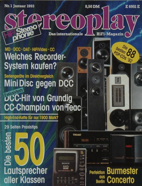 Stereoplay 1/1993 Zeitschrift