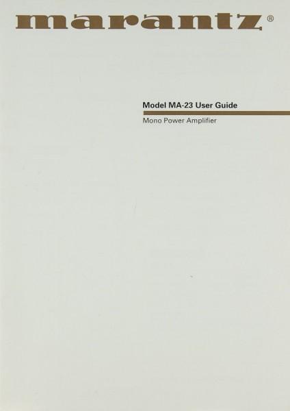 Marantz MA-23 Bedienungsanleitung