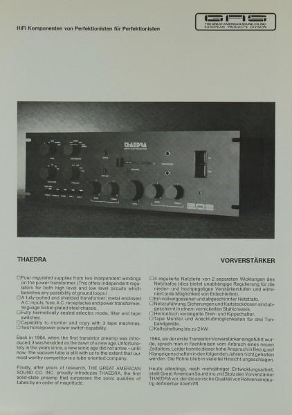 GAS Thaedra Prospekt / Katalog