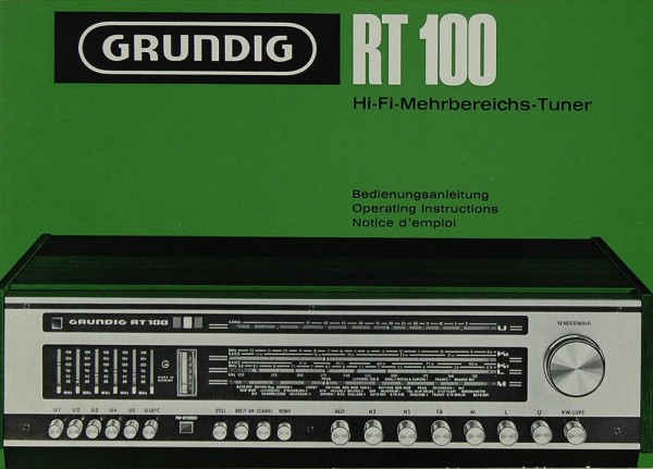 Grundig RT 100 Bedienungsanleitung